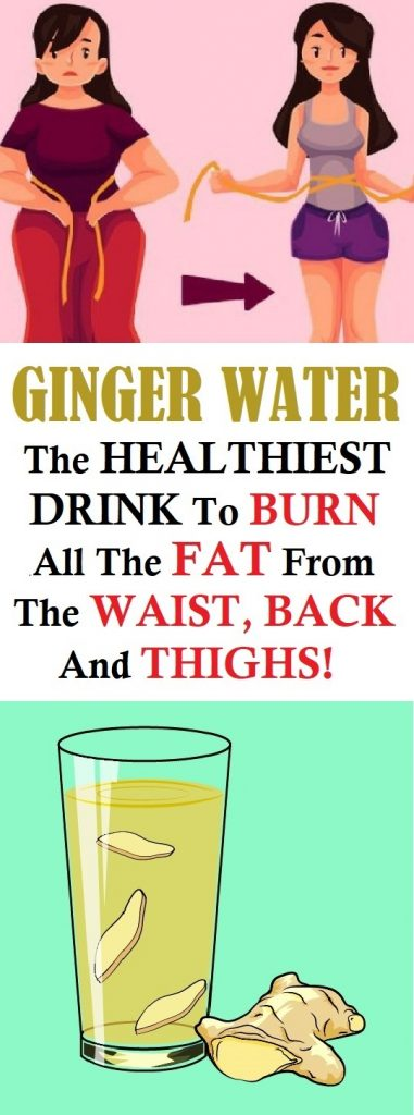 ginger water to burn fat